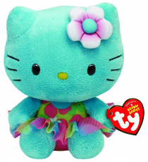 Hello Kitty TY41021. Peluche Hello Kitty Turquesa