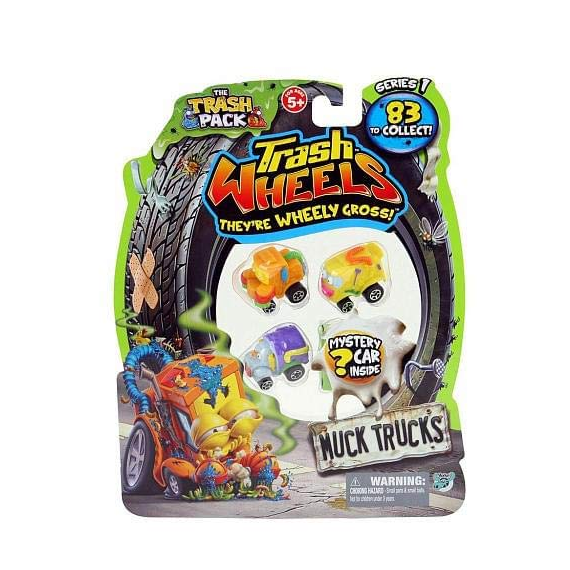 Trash Wheels 68321. Pack de 4 mini coches. Modelo aleatorio.
