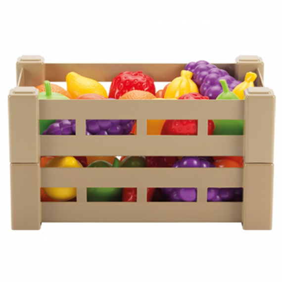Ecoiffier 474-9481. Box of fruits and vegetables. Random model.