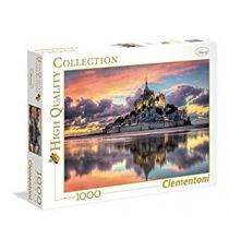 Clementoni 39367. The magnificent Mont Saint Design. Puzzle 1000 pieces.
