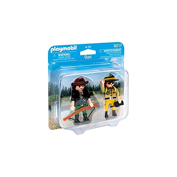 Playmobil 9217. Guarda bosques y cazador.
