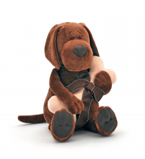 Orange Life Collection OS071/20. Stuffed Cookie, the dog with bone 20cm.