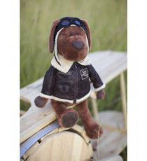 Orange Life Collection OS070 / 30. Soft toy Cookie 30cm, the aviator dog.