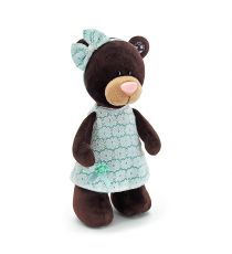 Orange Life Collection M5044 / 25. Milk soft toy 20cm. Bear with green dress.