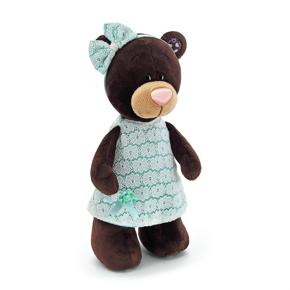 Orange Life Collection M5044/25. Peluche Milk 20cm. Oso con vestido verde.