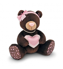 Orange Life Collection M003/20. Milk soft toy 20cm. Bear with a heart