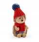 Orange Life Collection OS0604. Peluche Erizo con gorro y bufanda 16cm.
