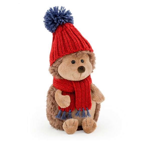 Orange Life Collection OS0604. Hedgehog with hat and scarf 16cm Soft toy.