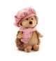 Orange Life Collection OS0603. Peluche Erizo con gorro y bufanda rosa 16cm