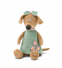 Orange toys 7646/30. Zuza soft toy 30cm. The dog with the dress.