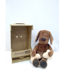 Orange Toys OS071-25. Cookie, le chien avec os 25cm.