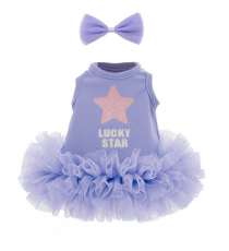 Lucky Doggy LD032. Set de ropa: Gracia Violeta.