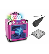 iDance BC-5LB. Pink loudspeaker with lights and microphone.