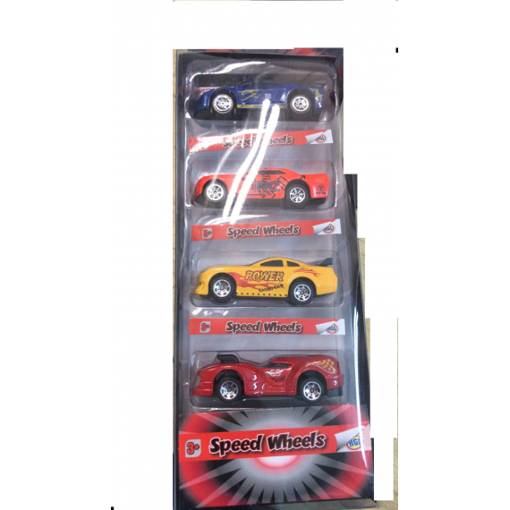 Speed Wheels SV12049. Pack 5 coches, modelo aleatorio.