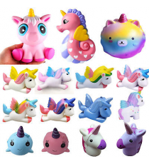 Unicorn Squidgies SV14651. Soft figures Random model.