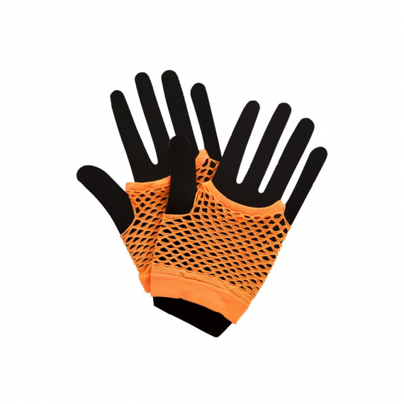 80's Net Gloves - Neon ORANGE (min 12)