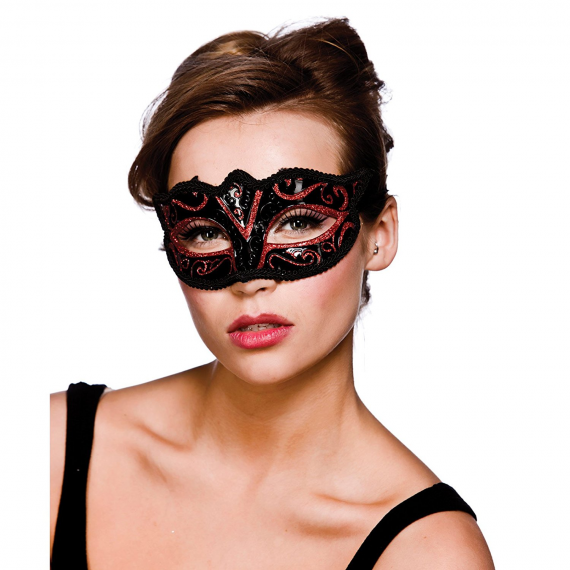 Wicked Costumes MK-9810-R. Red mask with black for woman.