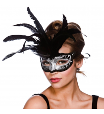 Black and silver mask. 8302