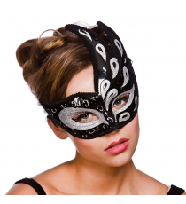 Black and silver mask. 8463.