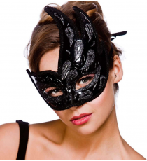 Wicked Costumes MK-9816-BB. Black luxury mask for women.