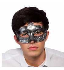 Gladiator mask 9545. Silver color