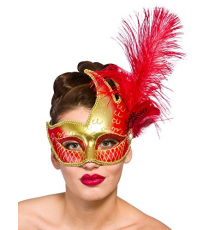 Red and gold mask 9712.