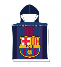 F.C. Barcelona. Poncho. Hooded towel
