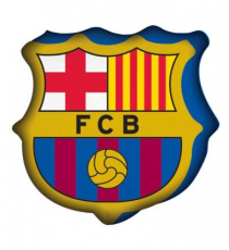 F.C. Barcelone. Coussin 3D