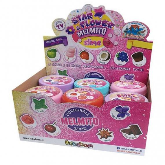 Putty Slime Melmito Star & Flowers 042-17. Modello casuale