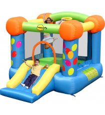 Happy Hop 9070. Castillo Hinchable: Party Slide and Hoop Bouncer.