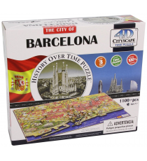 Eleven Force 40050. Puzzle 4D cities. Barcelona Design 1100 pieces.