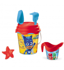 PJ Masks 28284. Beach castle bucket, includes shovel, rake, molds and showerhead