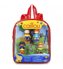 Caillou 02588. Mini backpack with 5 figures