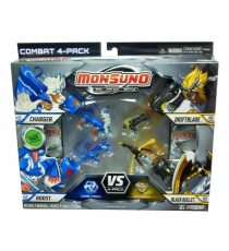 Monsuno 4 Pack Charger, Driftblade, Boost y Black Bullet