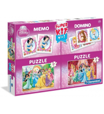 Clementoni 08203. Princesses Disney. Super kit 4 en 1.