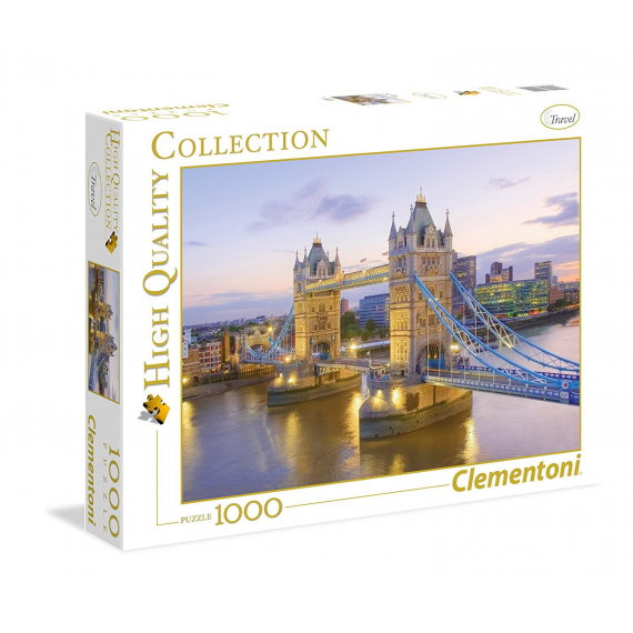 Clementoni 39022. Tower Bridge. Puzzle 1000 pieces
