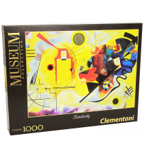 Clementoni 391950. Yellow, Red and Blue Design. Puzzle 1000 pieces.