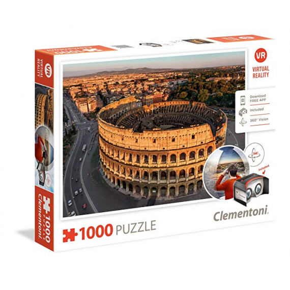 Clementoni 39403. Design Rome Virtual Reality. Puzzle 100 pièces