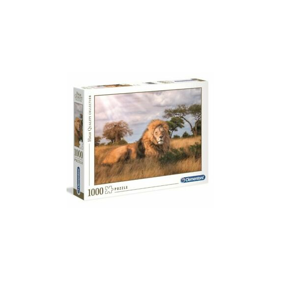 Clementoni 39479. The King of the jungle design . Puzzle 1000 pieces.