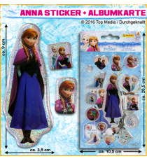 Frozen 077091. Album and stickers. Elsa design. 1 unit.
