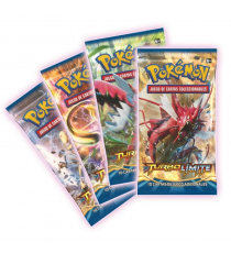 Pokémon POXY901ES. L'affichage mélange 10 cartes XY TURBO Limit.