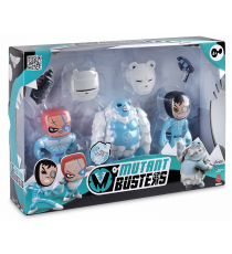 Mutant Busters 700012142. Set 3 figurines de neige