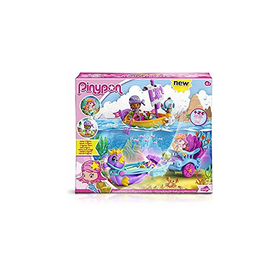Pinypon 700013367 - Mermaid carriage and pirate boat.