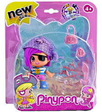 Pinypon 700013363A. Pirate Figure Lilac Cap