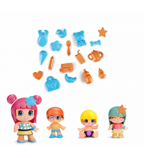 Pinypon 700014101. Pack 4 figures.