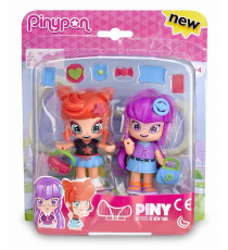 Pinypon 700012915B. Pack Compañeras de Clase: Rita And Lilith.