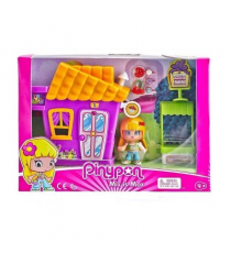 Pinypon 700014333A. Mini casitas y figura.