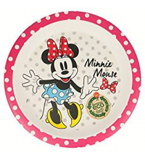 Disney 01281. Bamboo plate. Design Minnie Mouse.