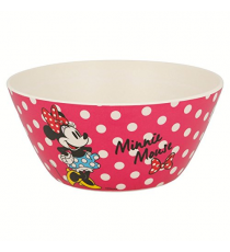 Disney 01282. Bamboo bowl. Minnie Mouse Design.