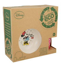 Disney 01285. Bamboo breakfast set. Design Minnie Mouse.